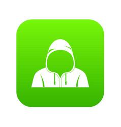 hood icon digital green vector image