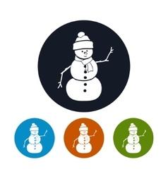 Icons Christmas Snowman vector image