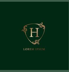Letter h alphabetic logo design template luxury vector