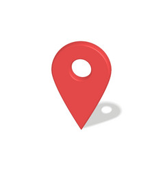 Location red pointer vector
