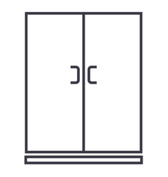 lockercupboard line icon sign vector image