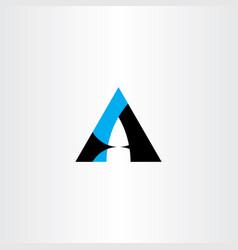 logo a letter icon black cyan logotype symbol vector image