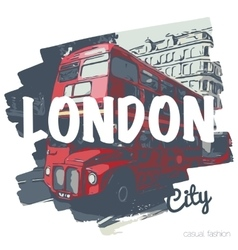 London bus vecrot print for t-shirt and another vector