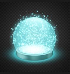 Magic snow globe vector
