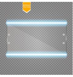 Makeup mirror isolated with lights vector