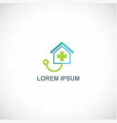 medic hospital care logo vector image