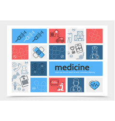 Medicine infographic template vector