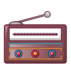 modern radio icon cartoon style vector image