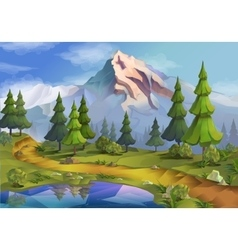 Nature landscape vector