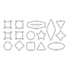 nautical ropes creative outline borders set vector image