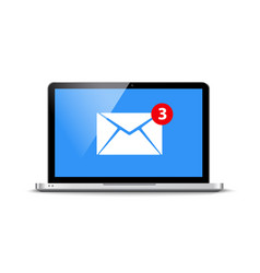 new message email notification computer vector image