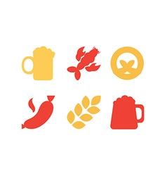 Oktoberfest icons set vector