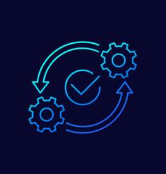 Optimization optimize line icon vector