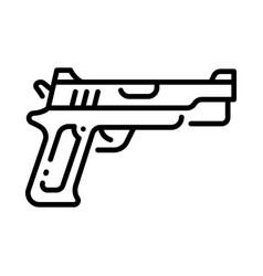 outline gun vector image