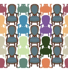 pattern with armchairs vector image