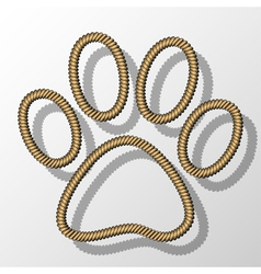 Paw Print-Rope vector image
