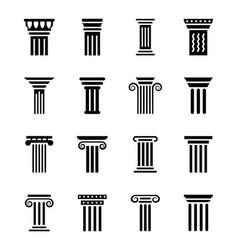 Pillar art icons vector