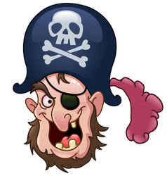 pirate head vector image vector image