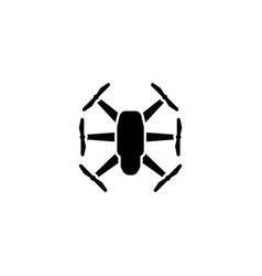 quadrupter dron flat icon vector image