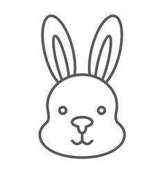 rabbit thin line icon hare and animal bunny sign vector image