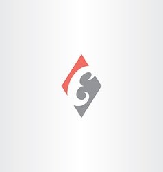 red gray letter e logo icon element vector image