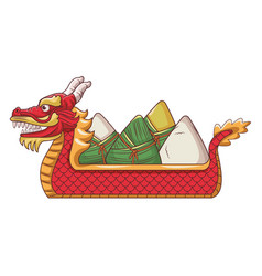Rice on dragonb boat vector
