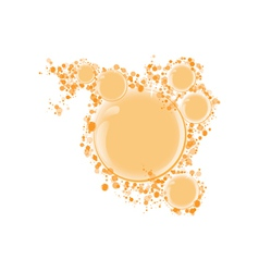 round frame for text orange bubbles vector image