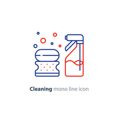 Sanitation objects set cleaning equipment items vector