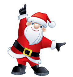 santa claus pointing up vector image
