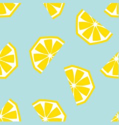seamless lemon geometric pattern vector image