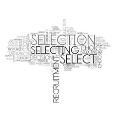 Selection word cloud concept vector
