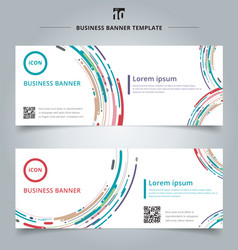Set banner web template modern style abstract vector
