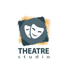 set of theater studio logo design vector image