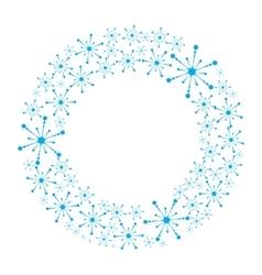 Snowflake wreath isolated vector