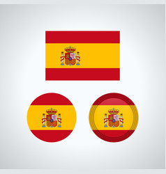 spanish trio flags vector image