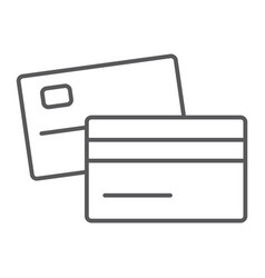 swipe credit card thin line icon bank and vector image
