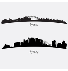 Sydney skylines vector image