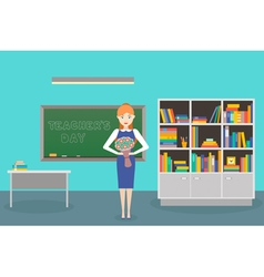 teacher day vector image