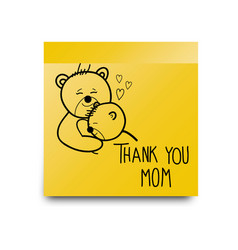 thank you mom sticker vector image