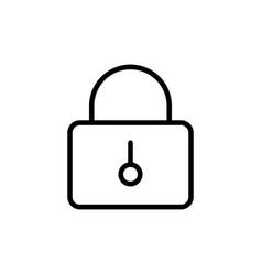 thin line closed lock icon vector image