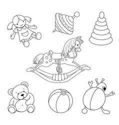 Toys for coloring vector image