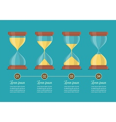 Transparent sandglass icon set infographic vector image