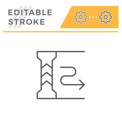 Underground parking editable stroke line icon vector
