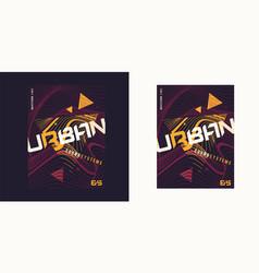 urban waves expressive geometric t-shirt vector image