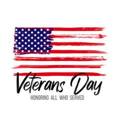 veterans day card creative vector image