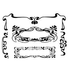 vintage engraving style floral frame vector image
