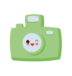 vintage photographic camera cute kawaii cartoon vector image