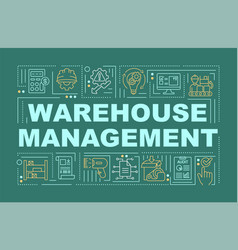 Warehouse management word concepts banner vector