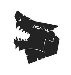 Wolf logo logo design template vector