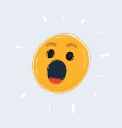 wonder face emoticon vector image